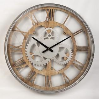 Reloj de pared madera y...