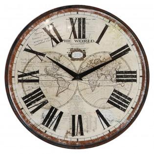 Reloj de pared de hierro y...
