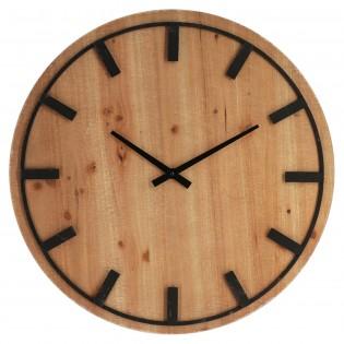 Reloj de pared de madera y...