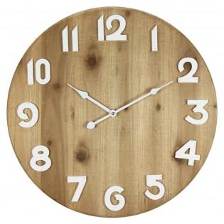 Reloj de pared de madera 50 cm